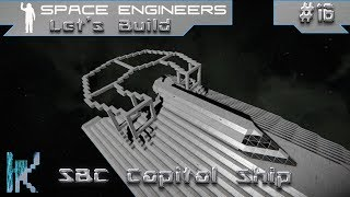 Shadowbound Corp. Capital Ship Part 16 - Space Engineers Let's Build