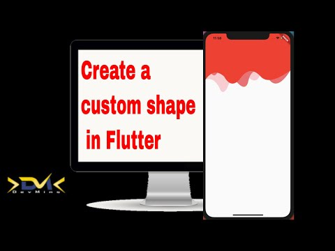Drawing Curved Path Shape in Flutter | Flutter Tutorial #1