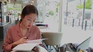 [ASMR] 카페에서 같이 공부할래?(음악있음) Studying together at a Cafe ASMR (Music)