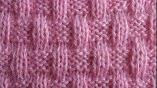 ВЯЗАНИЕ СПИЦАМИ!ПЛЕТЁНАЯ КОРЗИНА.Вязание для начинающих.knitting. Легко связать отличный узор
