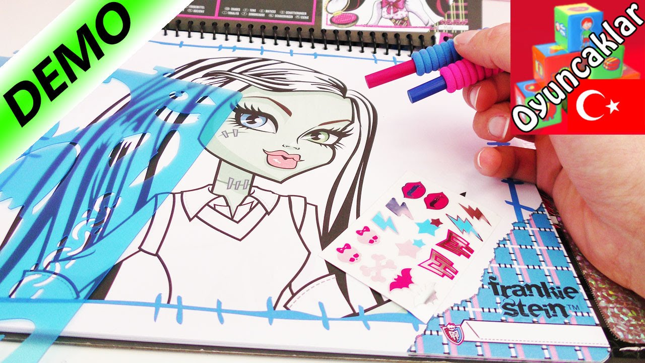 Monster High Make Up Artist Boyama Kitabi Turkce Tanitimi