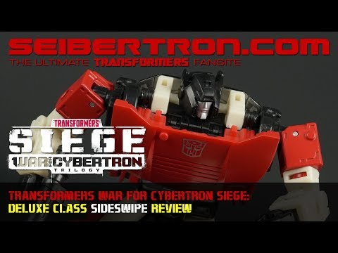 Transformers War for Cybertron Siege SIDESWIPE Deluxe Class review from Seibertron.com
