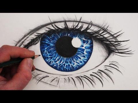 Làm thế nào để vẽ mắt có màu như thật