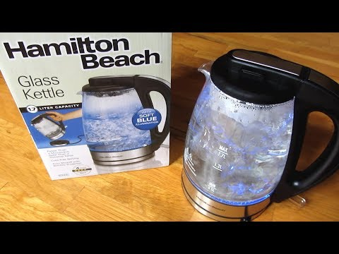 Hamilton Beach Electric Kettle | Boiling Water Demo Review | Model 40865 | Electric Tea Kettles