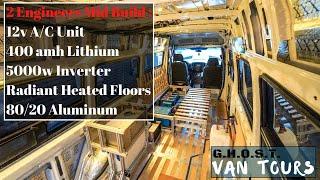 Engineers Design Ultimate 4x4 Van Tiny Home - Mid Build