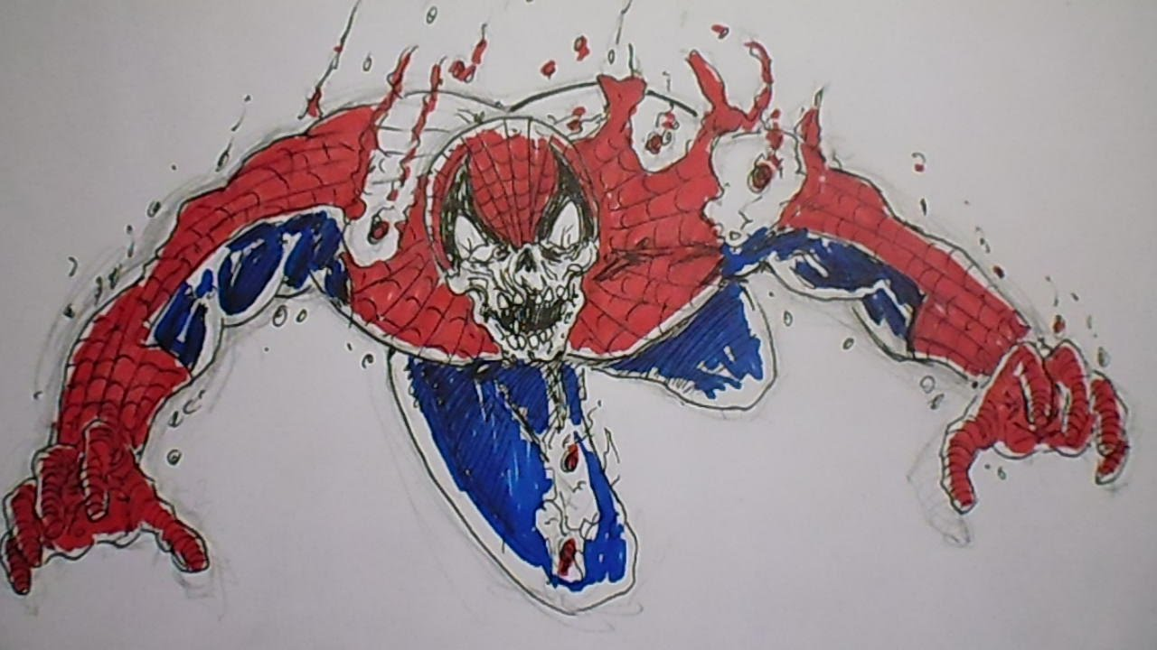 How To Draw Zombie Spiderman YouTube