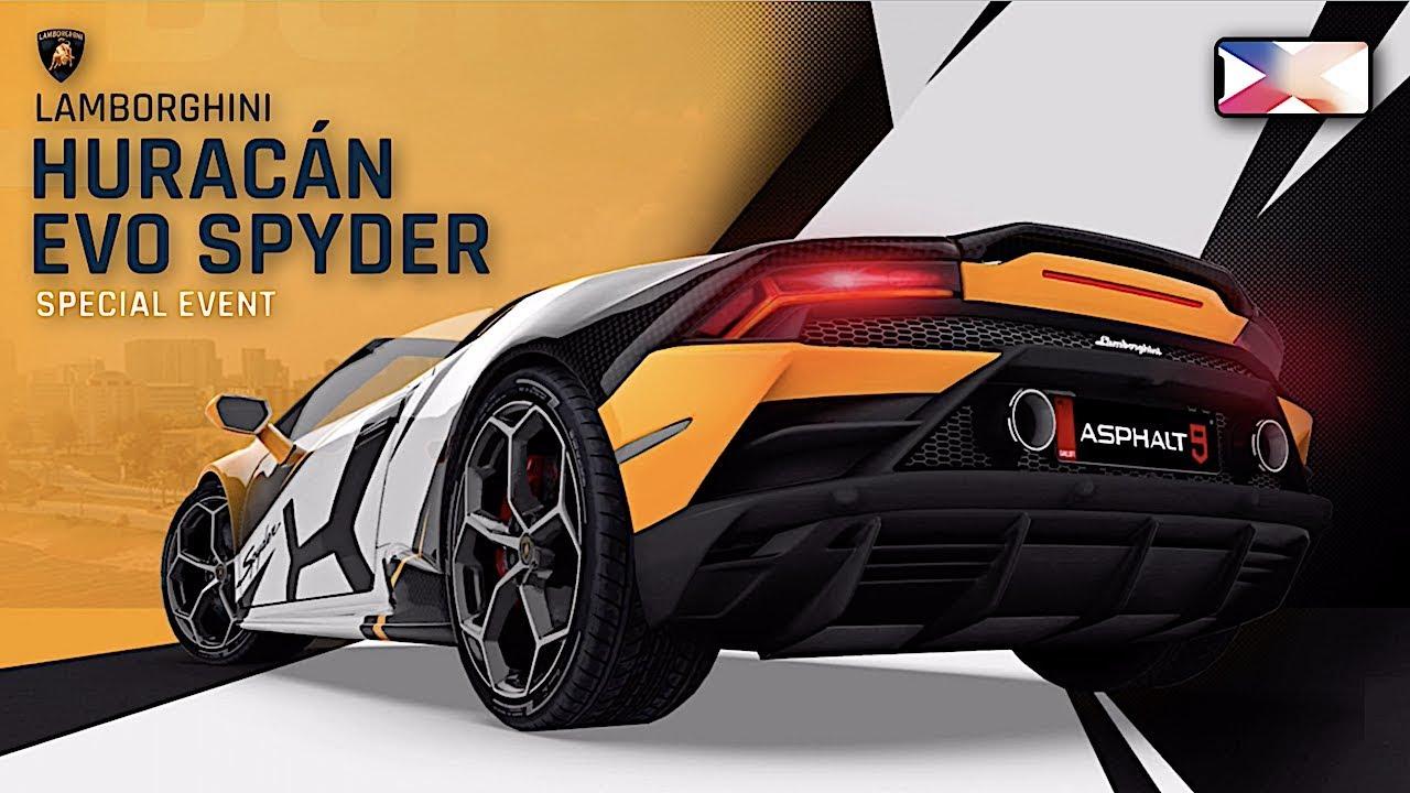 Asphalt 9 Legends Lamborghini Huracan Evo Spyder Special Event