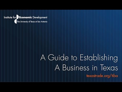 A Guide to Establishing a Business in Texas