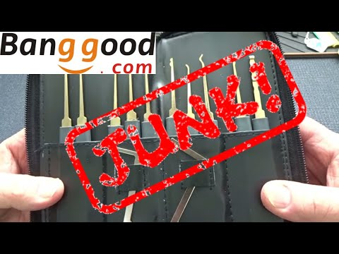 (1256) Review: Bangood Lock Pick Kit (JUNK!)
