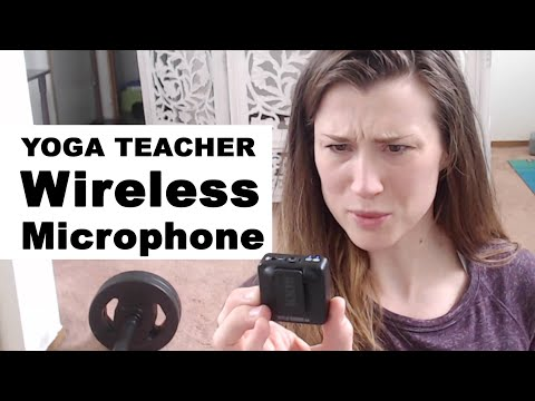 Wireless Microphone for Online Yoga Teaching Rode Wireless Go