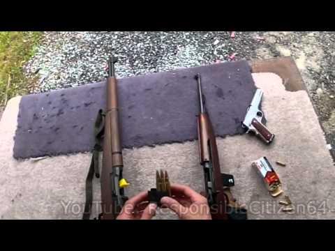 M1 Garand & M1 Carbine: Soda-can shootout