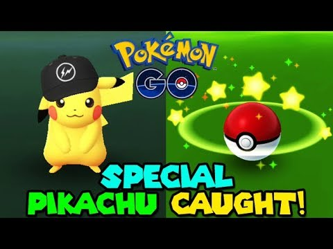 BLACK HAT PIKACHU CAUGHT IN POKEMON GO - NEW SPECIAL PIKACHU - YouTube dd0285b88f84