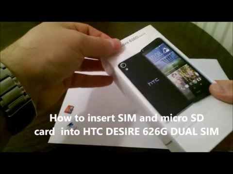 How to insert SIM and micro SD card into HTC DESIRE 626G DUAL SIM