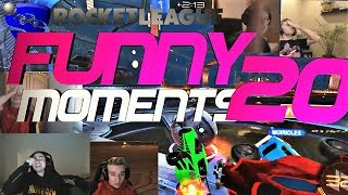 ROCKET LEAGUE FUNNY MOMENTS 20 😆 (FUNNY REACTIONS, FAILS & WINS BY COMMUNITY & PROS!)