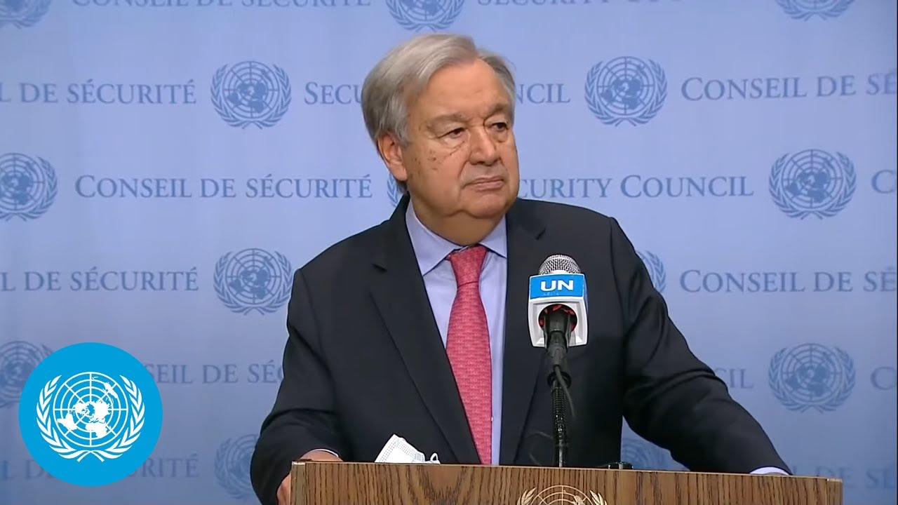 Download 'Crisis is growing in Afghanistan' - UN Chief Media Stakeout (11 October 2021)