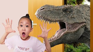 Dinosaur appered! Magical thing happened to the Fantastic Family Home
