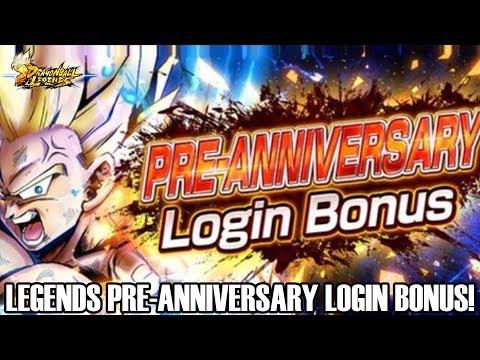 DRAGON BALL LEGENDS PRE ANNIVERSARY LOGIN BONUS!!! Dragon Ball Legends Info!