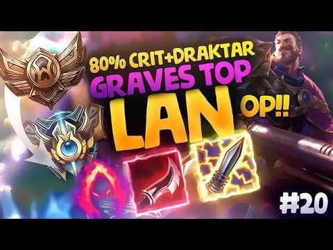 GRAVES 80% CRIT + DRAKTAR = BOOM | BRONCE TO CHALLENGER EN LAN #20
