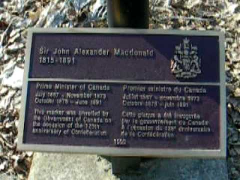 Mrs. McCarthy visits Sir John A. MacDonald grave