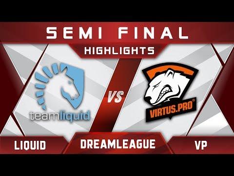 Liquid vs VP Semi Final DreamLeague 8 Major 2017 Highlights Dota 2