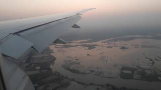Amazng Landing at Dhaka Airport : Watch Beautiful dusk seen of Dhaka from the Plane