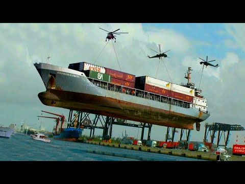 Dangerous Ship launches GONE WRONG   Awesome Waves, FAILS and CLOSE CALLS