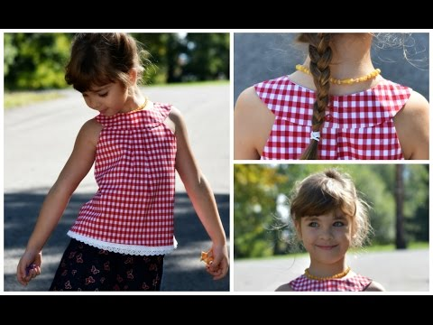 How to sew a round Yoke Dress / Top / Jumper - Kitty Pattern