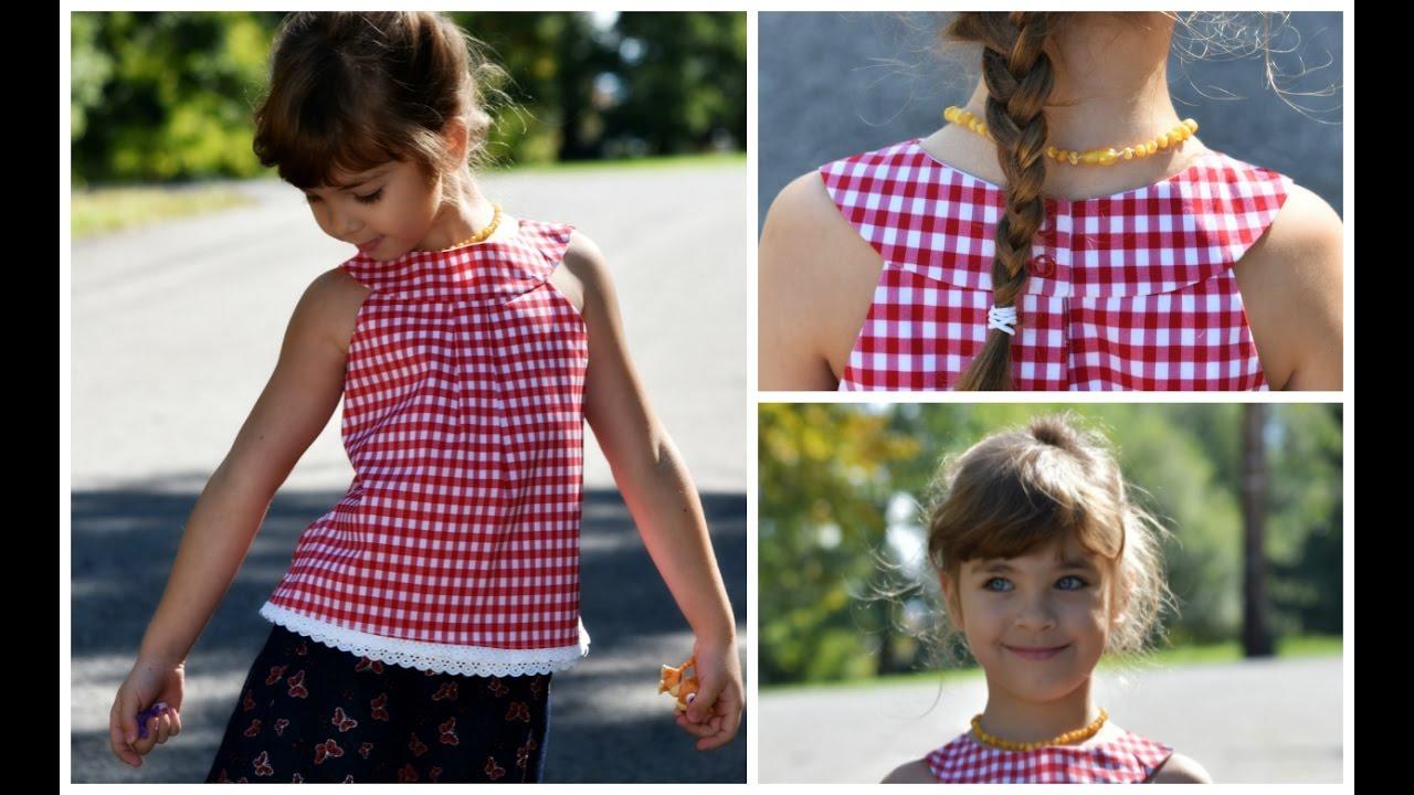 ROUND YOKE DRESS - KITTY- LINED WITHOUT A PLACKET - YouTube