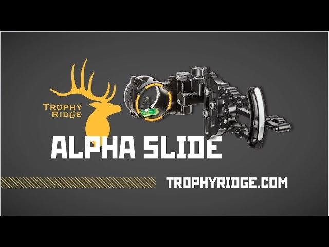 Utilisé Trophy Ridge Alpha Bow Sight 1 .019 pin Droitier Noir Modèle # aats 2011R19