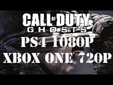 cod ghost xbox one 720p vs ps4