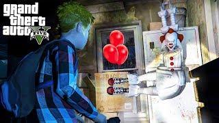 ДЕТИ НАШЛИ ПЕННИВАЙЗА КЛОУНА ОНО В ГТА 5 МОДЫ! ОБЗОР МОДА В GTA 5 веселая видео игра как мультик
