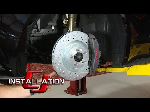 "2015-2019 Mustang GT Performance Pack Baer Brakes Front Brake Rotor 15"" Sport Pair Installation"