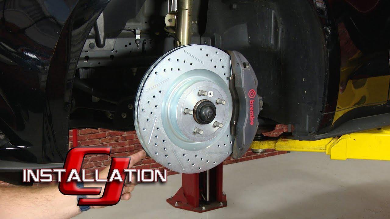 2017 2019 Mustang Gt Performance Pack Baer Brakes Front Brake Rotor 15 Sport Pair Installation