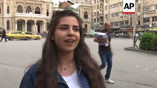 Damascus streets packed as Western nations consider military strikes