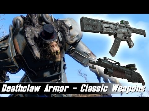 Fallout 4 Mods Week 54 - Deathclaw Armor and Classic Weapons! - YouTube