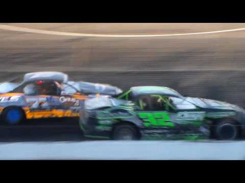 Stock Car Heat 3 @ Hancock County Speedway 06/27/17