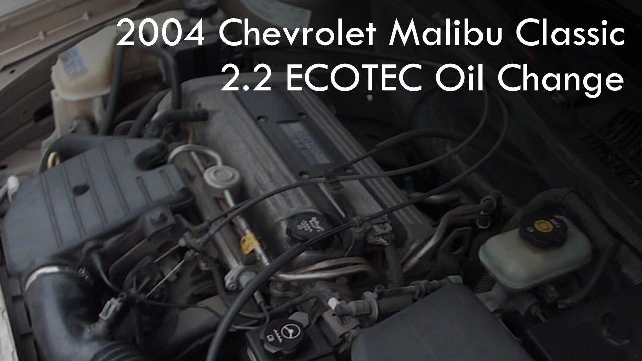 ECOTEC Oil Change (2004 Chevrolet Malibu Classic) - YouTubeYouTube