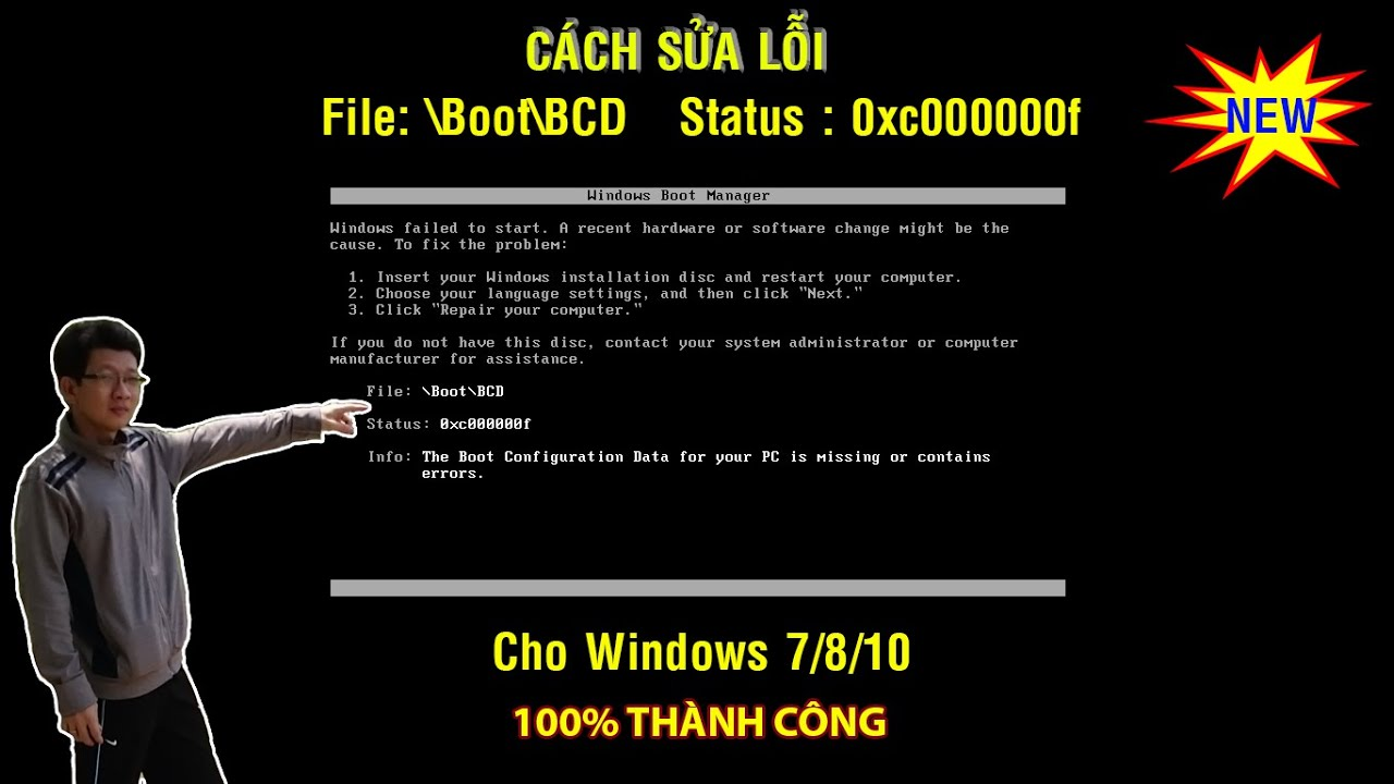 Fix lỗi File Boot BCD 0xc000000f Windows 7/8/10 (CỰC DỄ) | Fix Error 0xc000000f in Windows 7, 8, 10