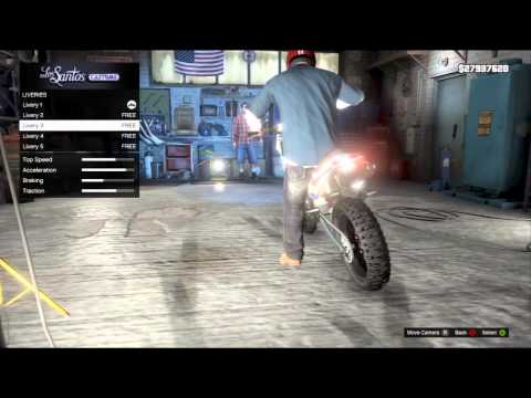 GTA 5 - Upgrading The Dirt Bike (Sanchez) + How To Get ...