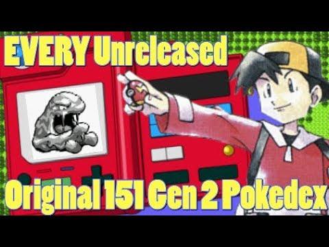 Pokemon GOLD 1997 Demo Pokedex 001 to 151 CUT POKEMON Designs