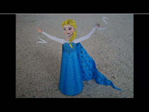 Papercraft Paper Model of Elsa from the Movie