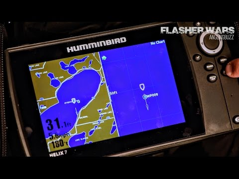 humminbird ice helix 7 - (flasher wars) - tom neustrom - youtube, Fish Finder