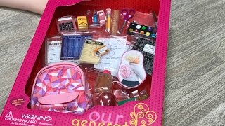 American Girl Doll Off To School Backpack