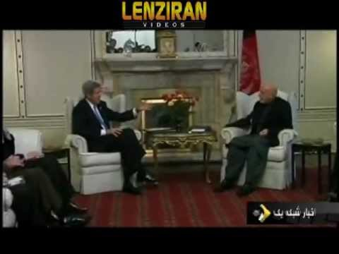 Afghanistan took control of Bagram prison  , Karzai denied his words after meeting John Kerry !