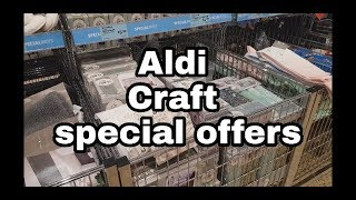 Aldi Craft Offers 9th Aug 2018   Mini Shop with me