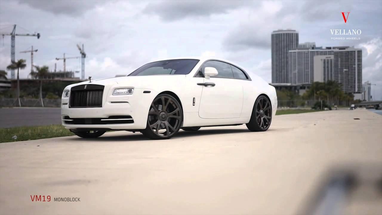 Rolls Royce Wraith 0 60 >> Rolls Royce Wraith on Vellano VM19 Monoblock Forged Concave - YouTube
