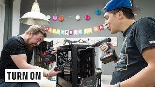 Gaming-PC: Jens baut sein Test-Rig zusammen – TURN ON Live