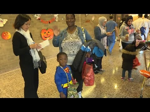 RAW VIDEO: Pediatric Patients Enjoy Halloween