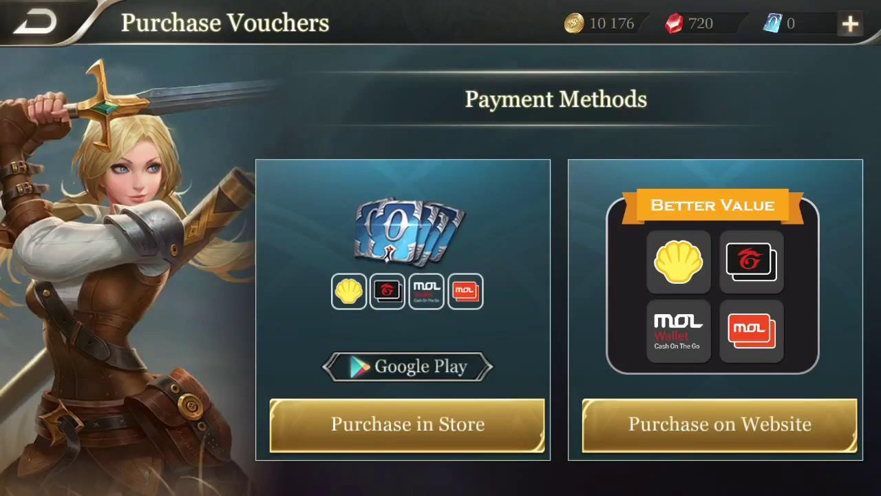 How to Recharge Vouchers in Garena Arena of Valor