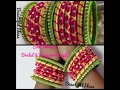 How to Make Silk Thread Bridal And Designer Bangles At Home/ Party wear Bangles..